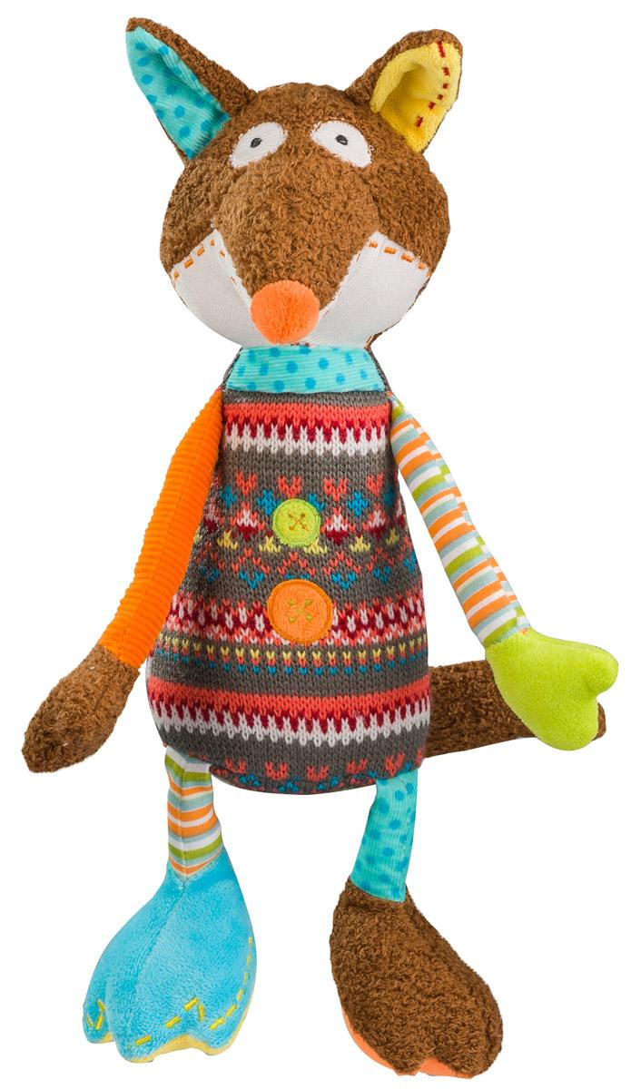 BabyOno Мягкая игрушка-погремушка Лисенок babyono мягкая кукла лили цвет коралловый