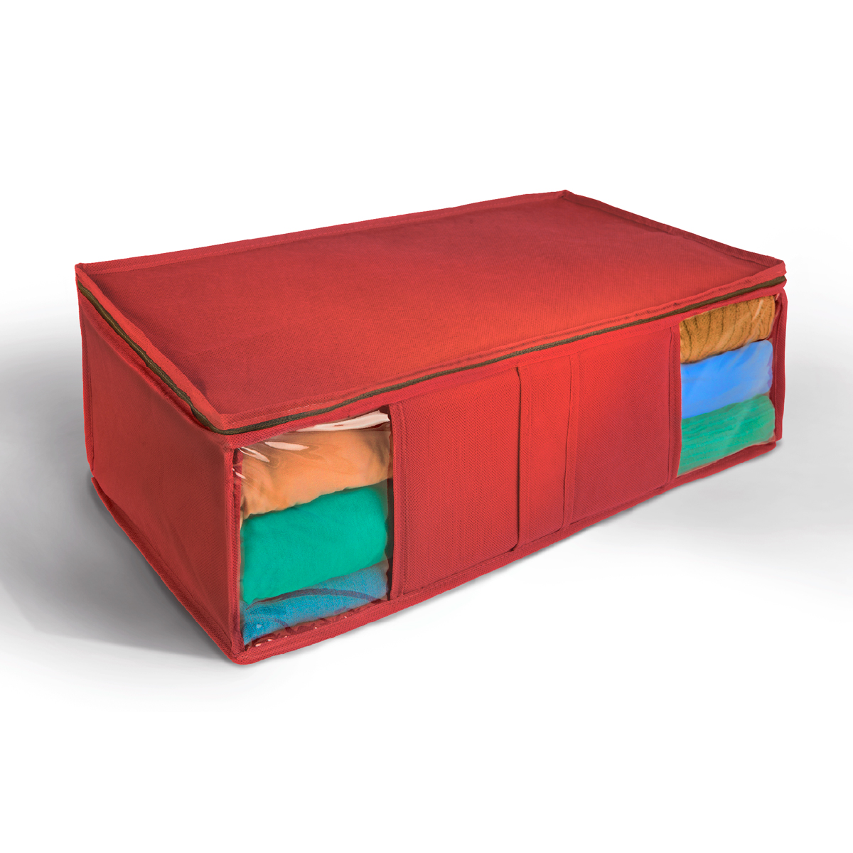 Кофр для хранения Miolla, складной, цвет: красный, 60 х 30 х 20 см коробка для хранения miolla 40 х 30 х 20 см cfb 03