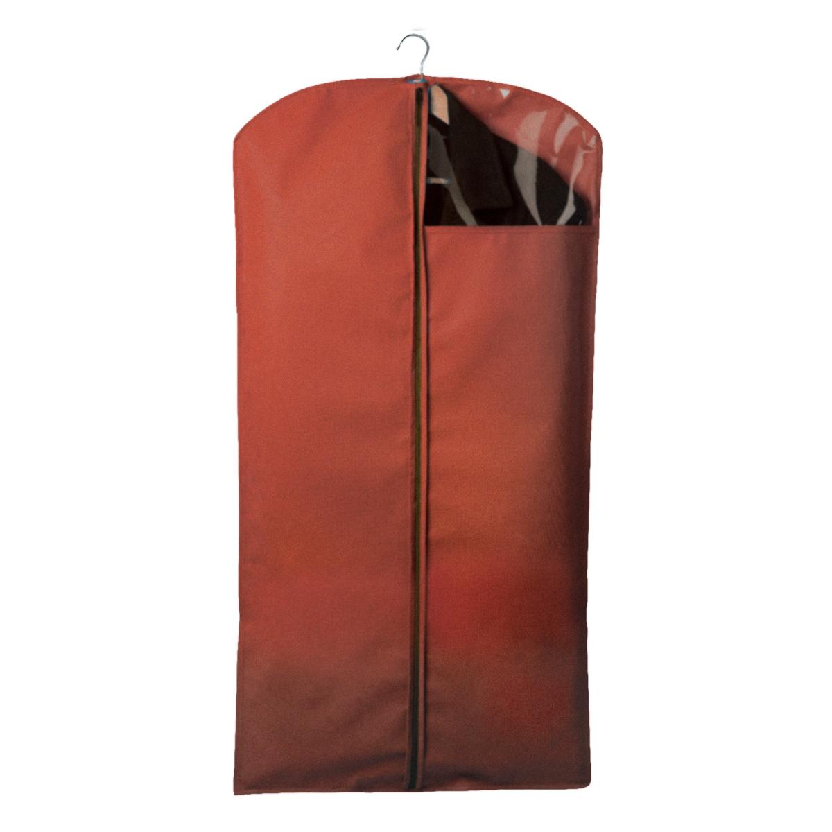"""Чехол для костюмов и платьев """"Miolla"""" на застежке-молнии выполнен из высококачественного нетканого материала. Прозрачное полиэтиленовое окошко позволяет видеть содержимое чехла. Подходит для длительного хранения вещей.Чехол обеспечивает вашей одежде надежную защиту от влажности, повреждений и грязи при транспортировке, от запыления при хранении и проникновения моли. Чехол обладает водоотталкивающими свойствами, а также позволяет воздуху свободно поступать внутрь вещей, обеспечивая их кондиционирование. Размер чехла: 120 х 60 см."""