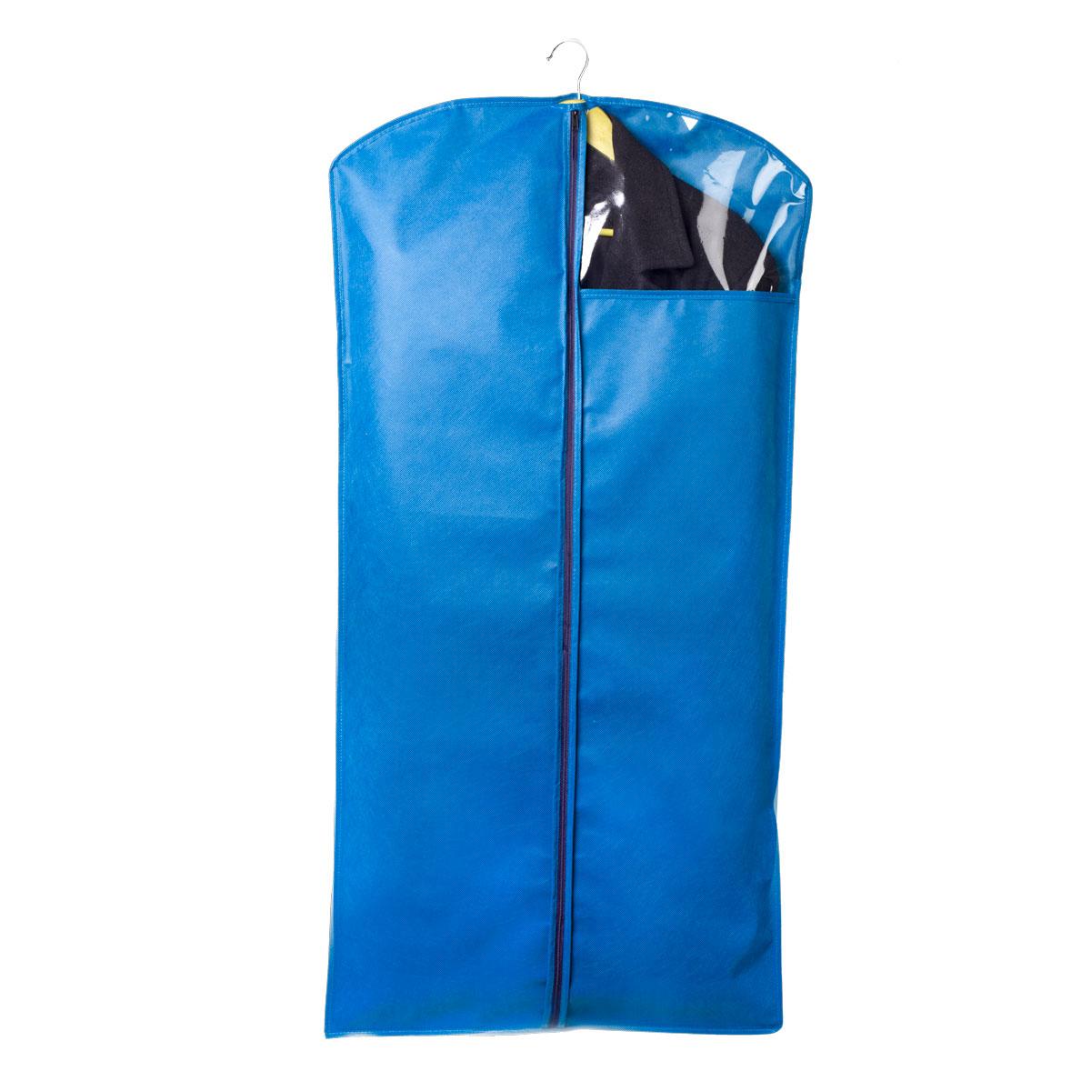 Чехол для одежды Miolla, цвет: синий, 120 х 60 смCHL-2-4Чехол для костюмов и платьев Miolla на застежке-молнии выполнен из высококачественного нетканого материала. Прозрачное полиэтиленовое окошко позволяет видеть содержимое чехла. Подходит для длительного хранения вещей.Чехол обеспечивает вашей одежде надежную защиту от влажности, повреждений и грязи при транспортировке, от запыления при хранении и проникновения моли. Чехол обладает водоотталкивающими свойствами, а также позволяет воздуху свободно поступать внутрь вещей, обеспечивая их кондиционирование. Размер чехла: 120 х 60 см.