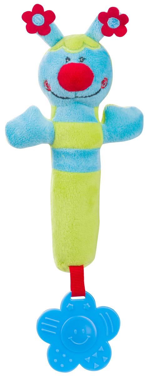BabyOno Игрушка-пищалка Пчелка цвет голубой салатовый