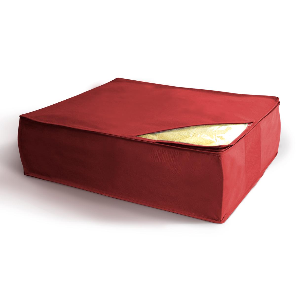 Кофр для хранения Miolla, складной, цвет: бордовый, 50 х 58 х 19 смCHL-5-2Компактный складной кофр Miolla для хранения одеял, подушек и пледов изготовлен из высококачественногонетканого материала, которыйобеспечивает естественную вентиляцию, позволяя воздуху проникать внутрь,но не пропускает пыль. Изделие закрывается на молнию. Размер кофра (в собранном виде): 50 x 58 x 19 см.