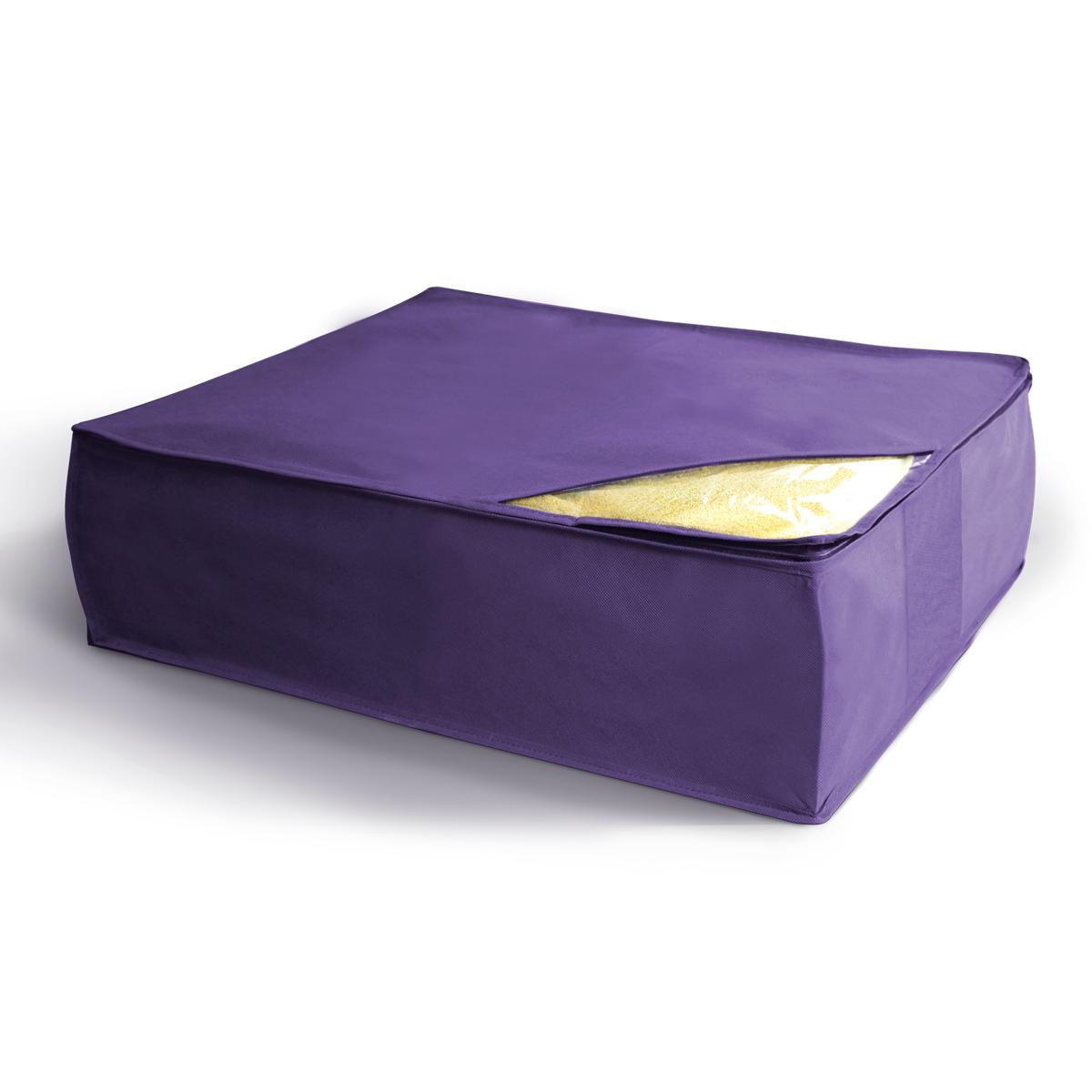 Кофр для хранения Miolla, складной, цвет: сиреневый, 50 х 58 х 19 смCHL-5-4Компактный складной кофр Miolla для хранения одеял, подушек и пледов изготовлен из высококачественногонетканого материала, которыйобеспечивает естественную вентиляцию, позволяя воздуху проникать внутрь,но не пропускает пыль. Изделие закрывается на молнию. Размер кофра (в собранном виде): 50 x 58 x 19 см.