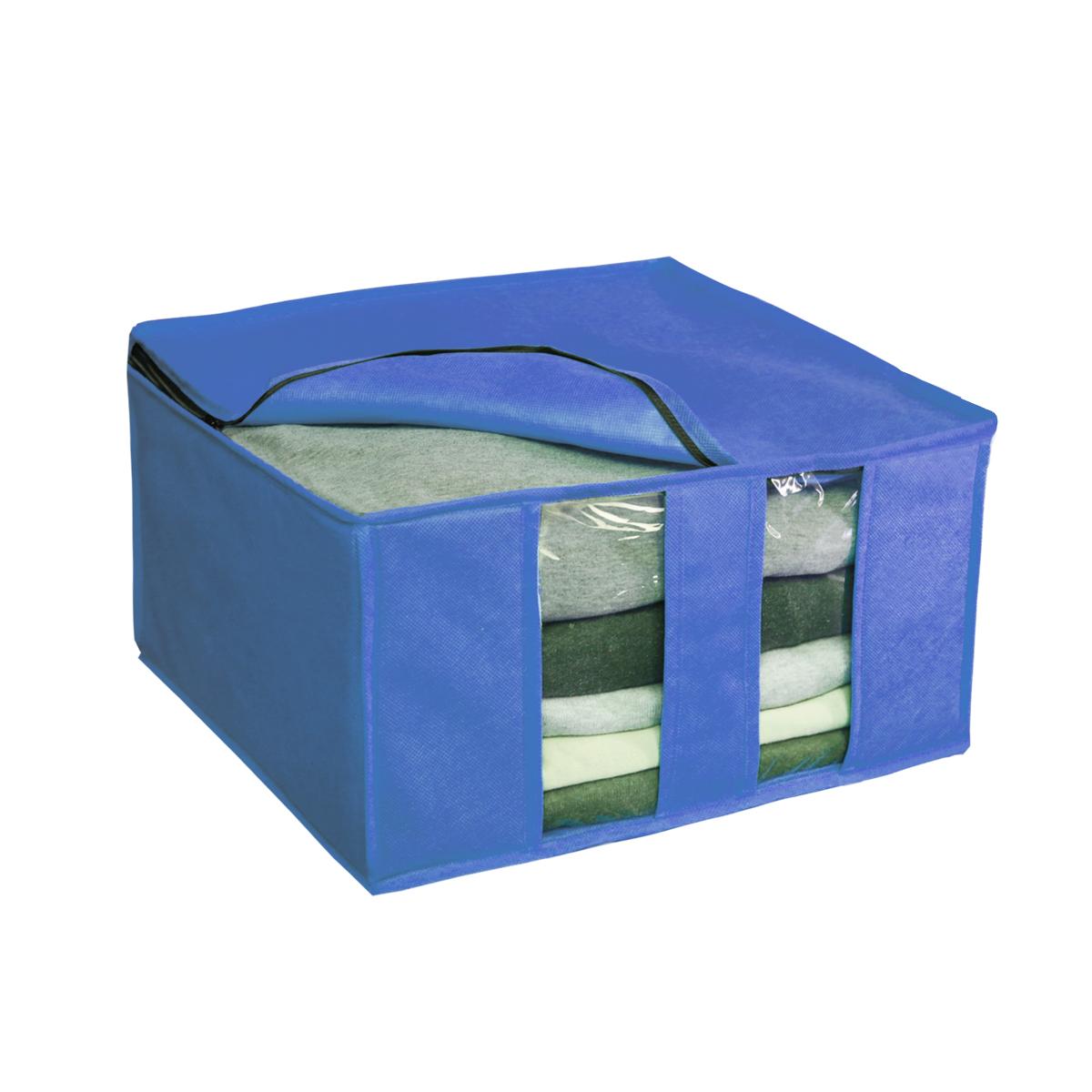 Кофр для хранения Miolla, цвет: синий, 40 х 40 х 25 см. CHL-6-1CHL-6-1Ящик раскладной для хранения вещей 40 x 40 x 25 см cиний