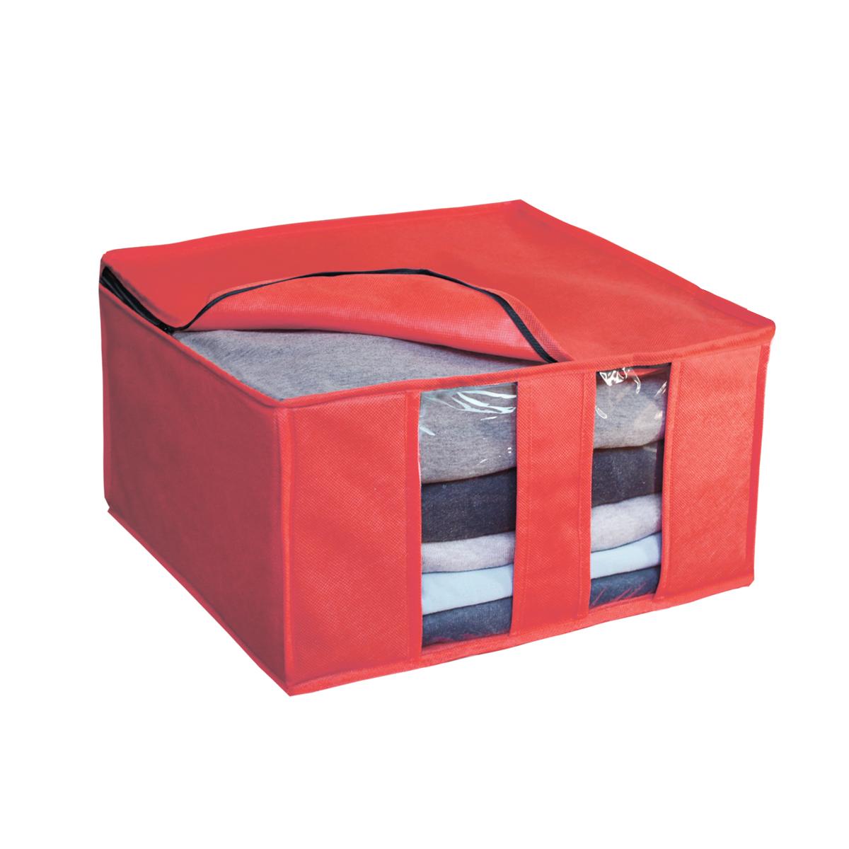 Кофр для хранения Miolla, складной, цвет: красный, 40 х 40 х 25 смCHL-6-3Компактный складной кофр Miolla изготовлен из высококачественногонетканого материала, которыйобеспечивает естественную вентиляцию, позволяя воздуху проникать внутрь,но не пропускает пыль. Изделие закрывается на молнию. Размер кофра (в собранном виде): 40 x 40 x 25 см.