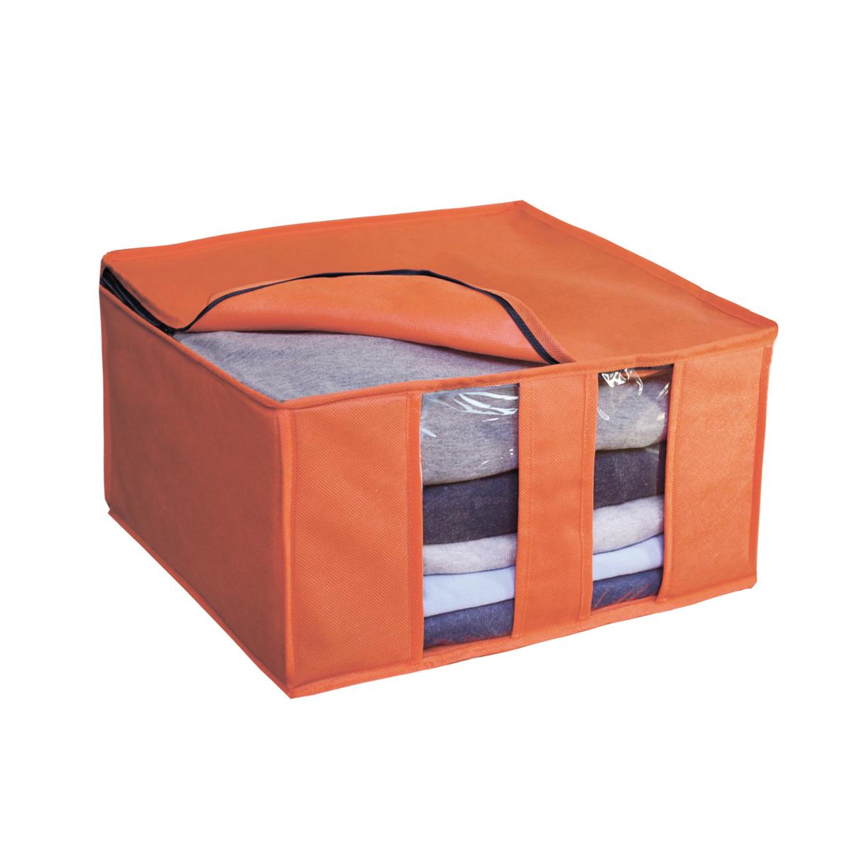 Кофр для хранения Miolla, складной, цвет: оранжевый, 40 х 40 х 25 смCHL-6-4Компактный складной кофр Miolla изготовлен из высококачественногонетканого материала, которыйобеспечивает естественную вентиляцию, позволяя воздуху проникать внутрь,но не пропускает пыль. Изделие закрывается на молнию. Размер кофра (в собранном виде): 40 x 40 x 25 см.