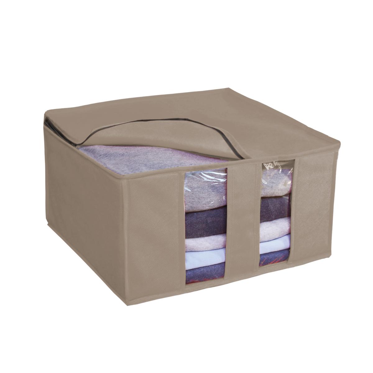 Кофр для хранения Miolla, складной, цвет: бежевый, 40 х 40 х 25 смCHL-6-5Компактный складной кофр Miolla изготовлен из высококачественногонетканого материала, которыйобеспечивает естественную вентиляцию, позволяя воздуху проникать внутрь,но не пропускает пыль. Изделие закрывается на молнию. Размер кофра (в собранном виде): 40 x 40 x 25 см.
