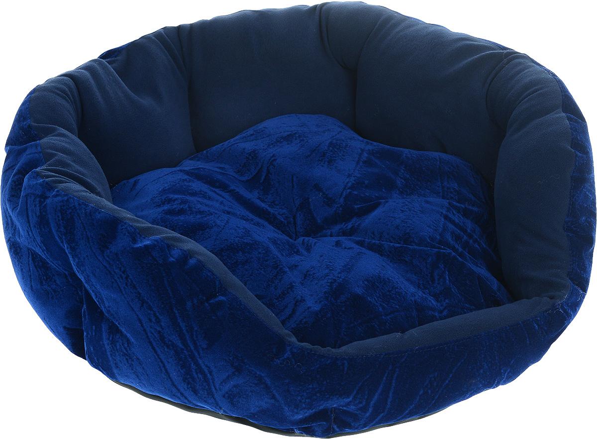 Лежак для животных ЗооМарк Цветочек, цвет: темно-синий, диаметр 64 смЛЦ-2Мягкий лежак для собак ЗооМарк Цветочек обязательно понравится вашему питомцу. Он выполнен из высококачественных материалов, а наполнитель из мягкого синтепуха. Такой материал не теряет своей формы долгое время. Высокие борта обеспечат вашему любимцу уют. Лежак оснащен съемной подстилкой. Лежак ЗооМарк Цветочек станет излюбленным местом вашего питомца, подарит ему спокойный и комфортный сон, а также убережет вашу мебель от многочисленной шерсти. Диаметр: 64 см.Высота: 19 см.