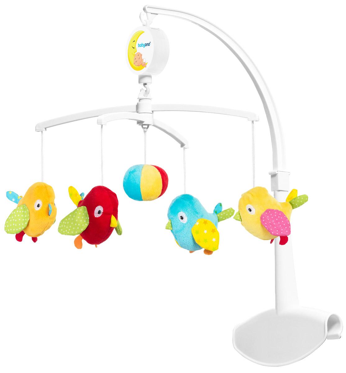 BabyOno Музыкальная карусель Птички - Игрушки для малышей