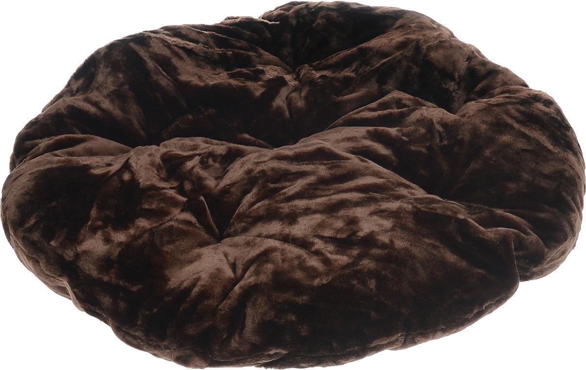 """Лежак для животных ЗооМарк """"Лаваш"""", цвет: темно-коричневый, диаметр 95 см"""