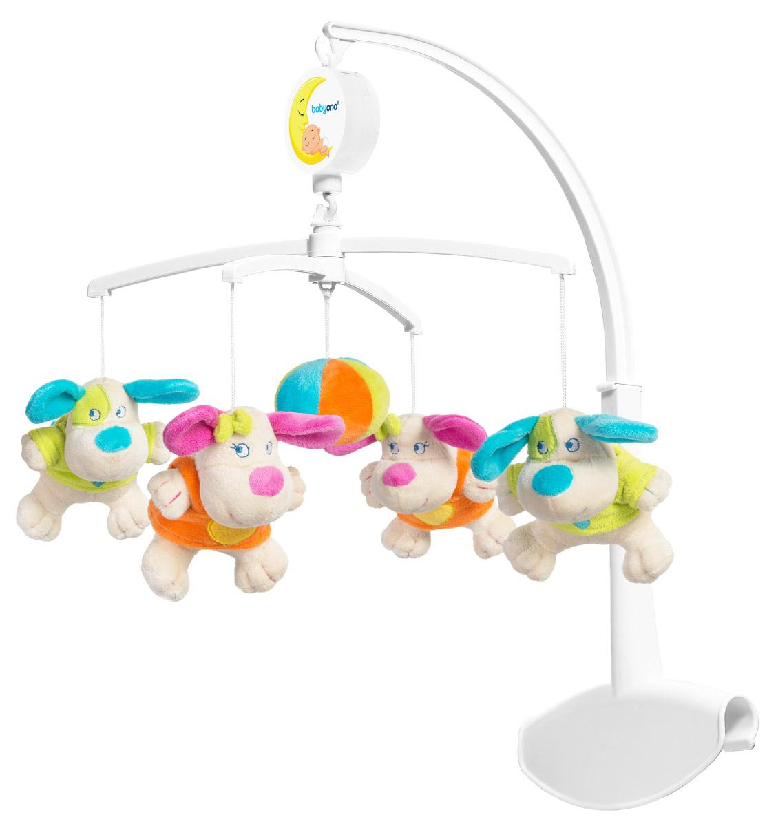BabyOno Музыкальная карусель Команда собачек - Игрушки для малышей
