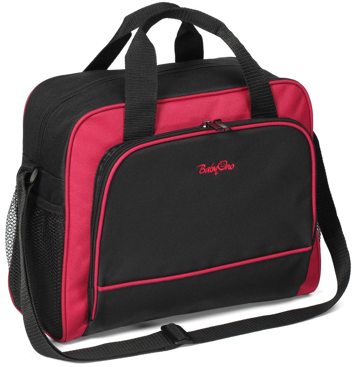 BabyOno Сумка для мамы Basic цвет черный малиновый алиэкспресс сумка для мамы