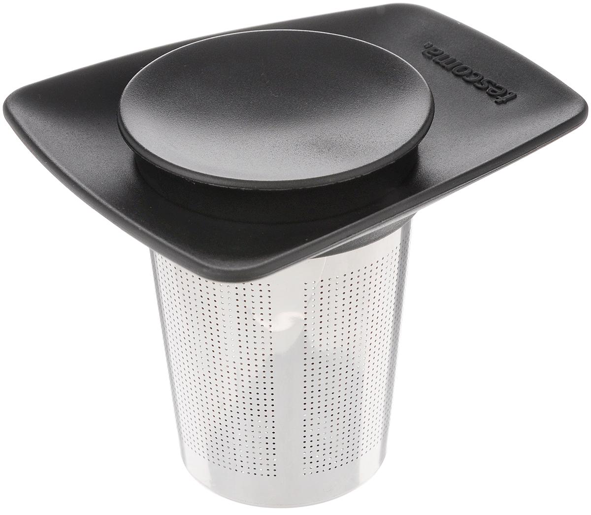 """Ситечко Tescoma """"Teo"""", выполненное из высококачественной нержавеющей стали и пластика, предназначено для заваривания чая.    Ситечко удобно в использовании, имеет современный дизайн и займет достойное место на вашей кухне. С таким ситечком очень  удобно заваривать любимый чай. Можно мыть в посудомоечной машине. Высота: 8,5 см. Диаметр рабочей части: 5,5 см."""