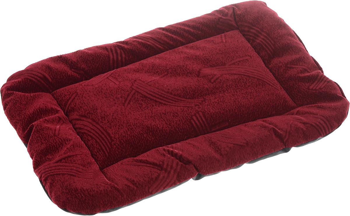 Матрас для животных ЗооМарк, цвет: бордовый, черный, 32 х 45 см512Матрас для животных ЗооМарк изготовлен из флока. Идеален для клеток, переносок, автомобилей. Поддерживает температурный баланс вашего питомца в любое время года. Яркий дизайн позволяет матрасу выглядеть привлекательным даже в период линьки. Наполнитель выполнен из синтепона. Матрас легко складывается для перевозки и хранения.
