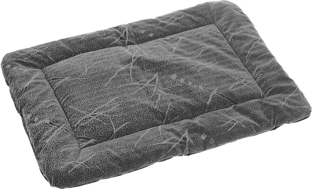 Матрас для животных ЗооМарк, цвет: серый, черный, 50 х 70 см543Матрас для животных ЗооМарк изготовлен из флока. Идеален для клеток, переносок, автомобилей, для полов с любым покрытием. Поддерживает температурный баланс вашего питомца в любое время года. Цвет позволяет матрасу выглядеть привлекательным даже в период линьки. Наполнитель выполнен из синтепона. Матрас легко складывается для перевозки и хранения. Размер в сложенном виде: 50 х 35 х 8 см. Размер в разложенном виде: 50 х 70 х 5 см.