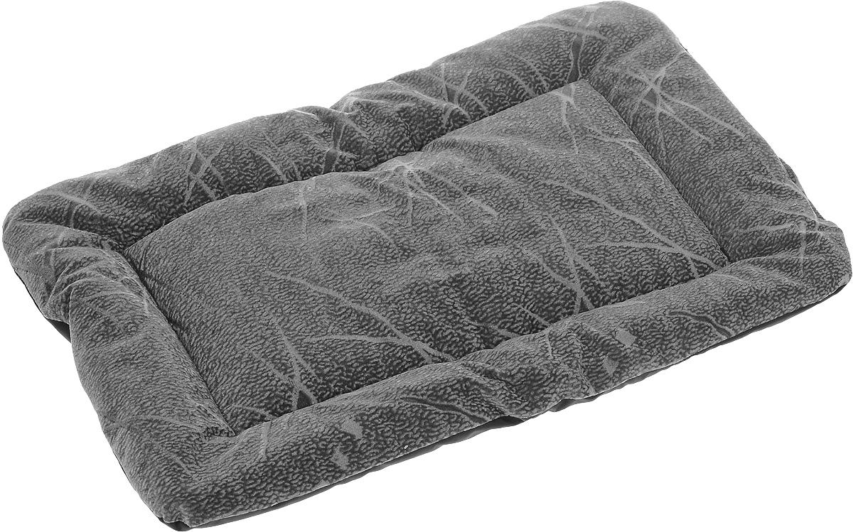 Матрас для животных ЗооМарк, цвет: серый, черный, 38 х 54 см
