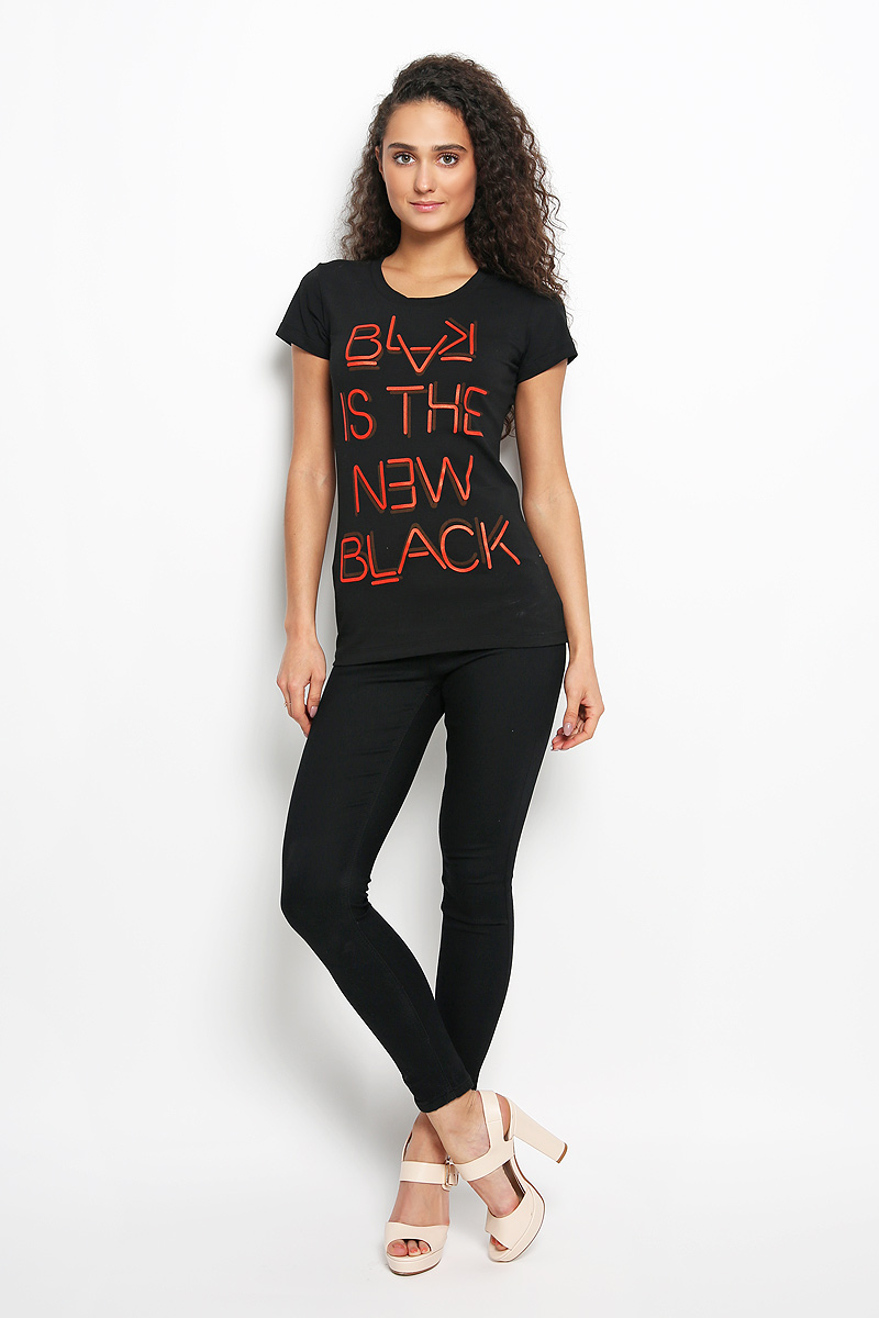 Купить Футболка женская Rocawear, цвет: черный, красный. R031508. Размер M (46)