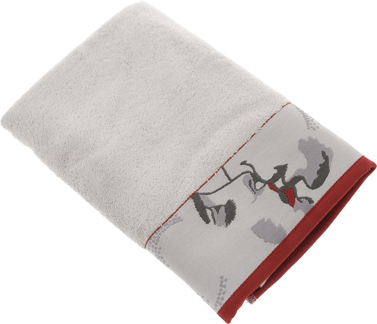 Полотенце Mona Liza Two, цвет: светло-серый, красный, 70 х 140 см529678/2Мягкое полотенце Two изготовлено из 30% хлопка и 70% бамбукового волокна. Полотенце Two с жаккардовым бордюром обладает высокой впитывающей способностью и сочетает в себе элегантную роскошь и практичность. Благодаря высокому качеству изготовления, полотенце будет радовать вас многие годы. Мотивы коллекции Mona Liza Premium bu Serg Look навеяны итальянскими фресками эпохи Ренессанса, периода удивительной гармонии в искусстве. В представленной коллекции для нанесения на ткань рисунка применяется многоцветная печать, метод реактивного крашения, который позволяет создать уникальную цветовую гамму, напоминающую старинные фрески. Этот метод также обеспечивает высокую устойчивость краски при стирке.