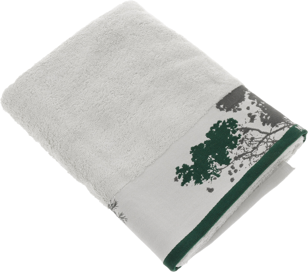 Полотенце Mona Liza Nature, цвет: светло-серый, зеленый, 70 х 140 см529674/2Мягкое полотенце Nature изготовлено из 30% хлопка и 70% бамбукового волокна. Полотенце Nature с жаккардовым бордюром обладает высокой впитывающей способностью и сочетает в себе элегантную роскошь и практичность. Благодаря высокому качеству изготовления, полотенце будет радовать вас многие годы. Мотивы коллекции Mona Liza Premium bu Serg Look навеяны итальянскими фресками эпохи Ренессанса, периода удивительной гармонии в искусстве. В представленной коллекции для нанесения на ткань рисунка применяется многоцветная печать, метод реактивного крашения, который позволяет создать уникальную цветовую гамму, напоминающую старинные фрески. Этот метод также обеспечивает высокую устойчивость краски при стирке.
