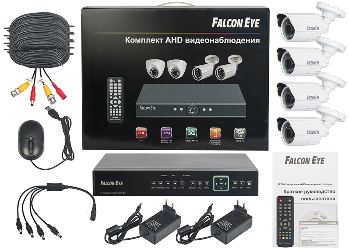 Falcon Eye FE-0104AHD Kit Защита комплект видеонаблюдения комплект видеонаблюдения falcon eye fe 0104ahd kit