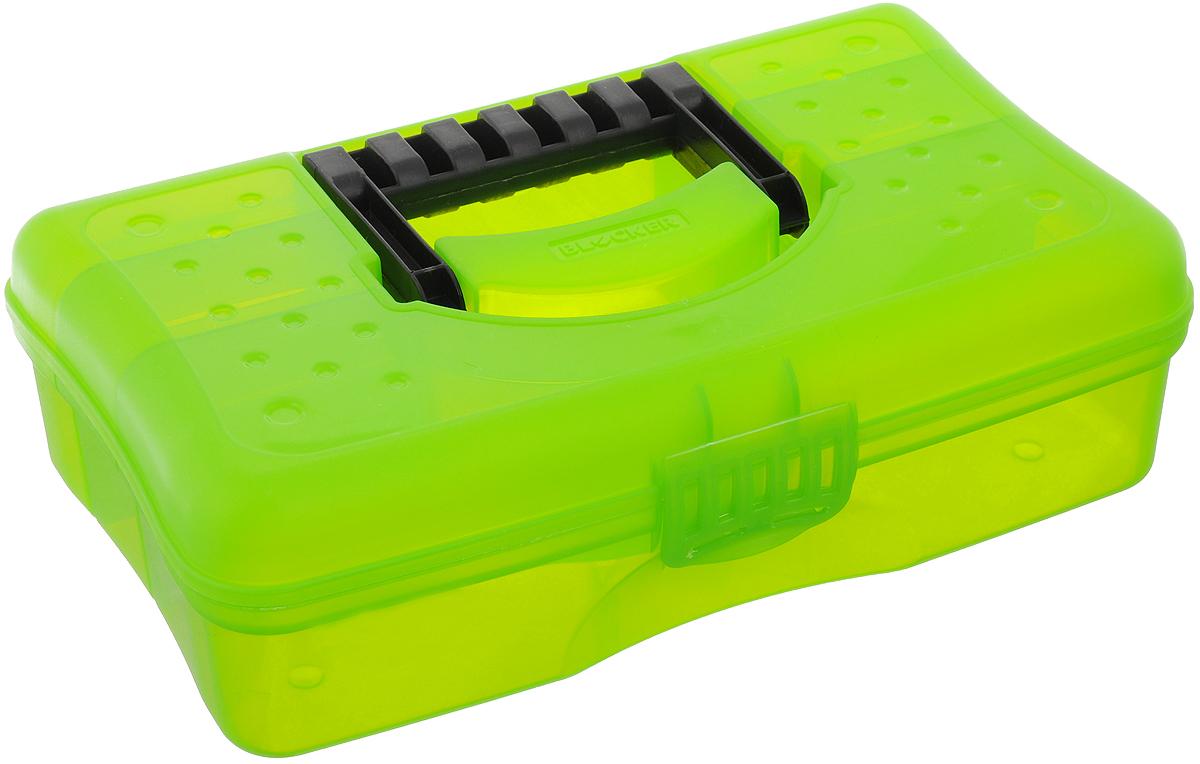 Органайзер Blocker Hobby Box, цвет: салатовый, черный, 29,5 х 18 х 9 см ящик для рыболовных принадлежностей onlitop цвет зеленый черный 38 х 24 х 37 см