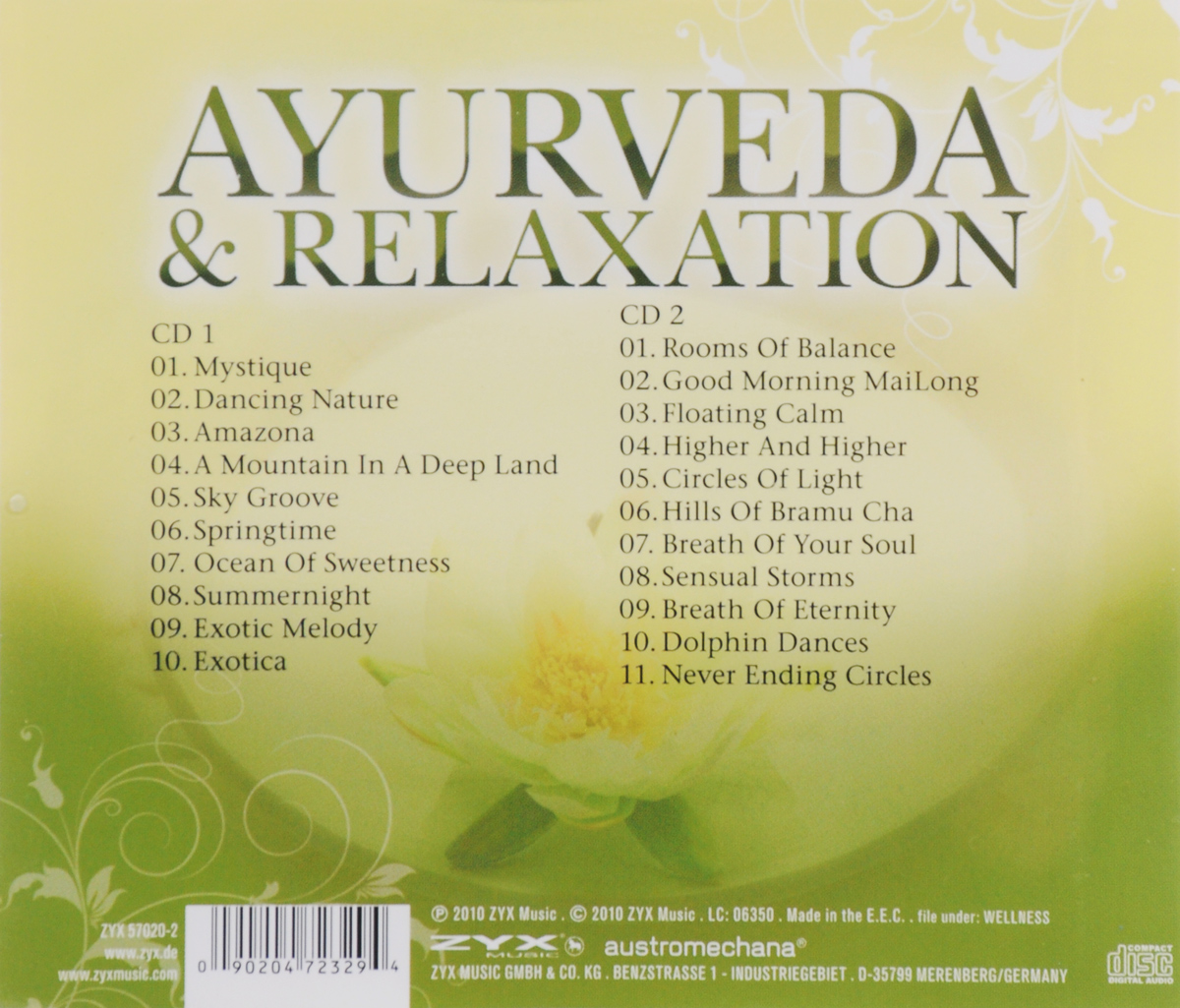 Ayurveda& Relaxation (2 CD) Волтэкс-инвест,ZYX Music