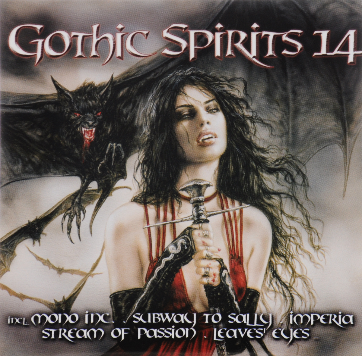 Imperia,Mono Inc.,Stream Of Passion,Subway To Sally,Schandmaul,Serenity,Lake Of Tears,Rhombus,Gothminister,The Silence Industry ,Leaves' Eyes,MiDnattsol,Krypteria,Arven,Amorphis,Schwarzer Engel ,Schongeist,The Pussybats,Sons Of Seasons,Krystal System Gothic Spirits 14 (2 CD) amorphis amorphis under the red cloud 2 lp