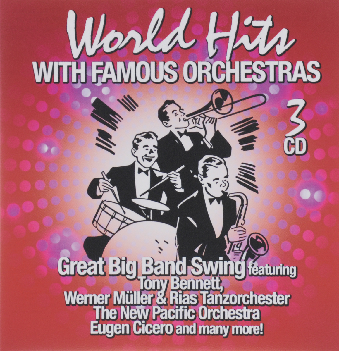 World Hits With Famous Orchestras (3 CD) массимо фарао piano world hits 2 cd