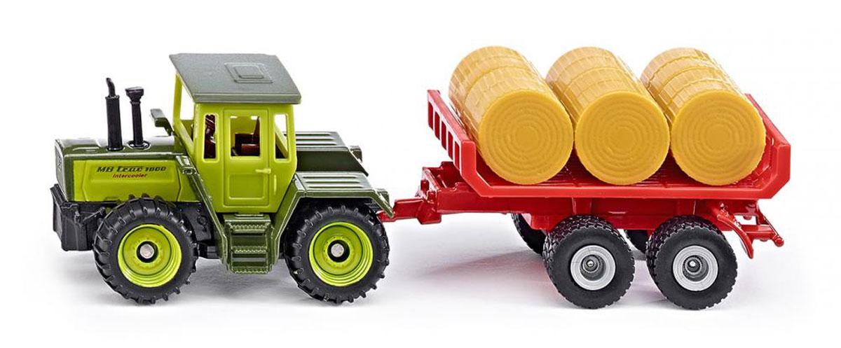 Siku Трактор MB Trac 1800 Intercooler c прицепом для кип siku внедорожник jeep wrangler с прицепом для перевозки лошадей