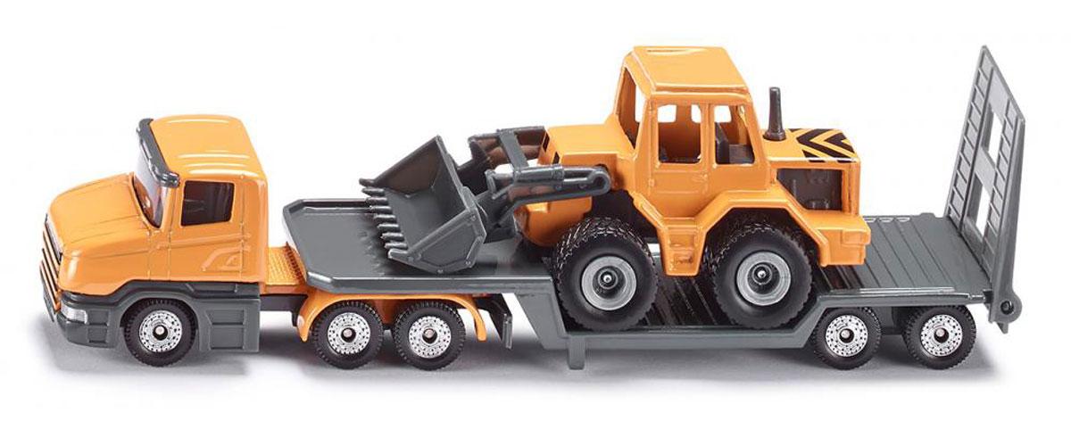 Siku Тягач с бульдозером siku внедорожник jeep wrangler с прицепом для перевозки лошадей