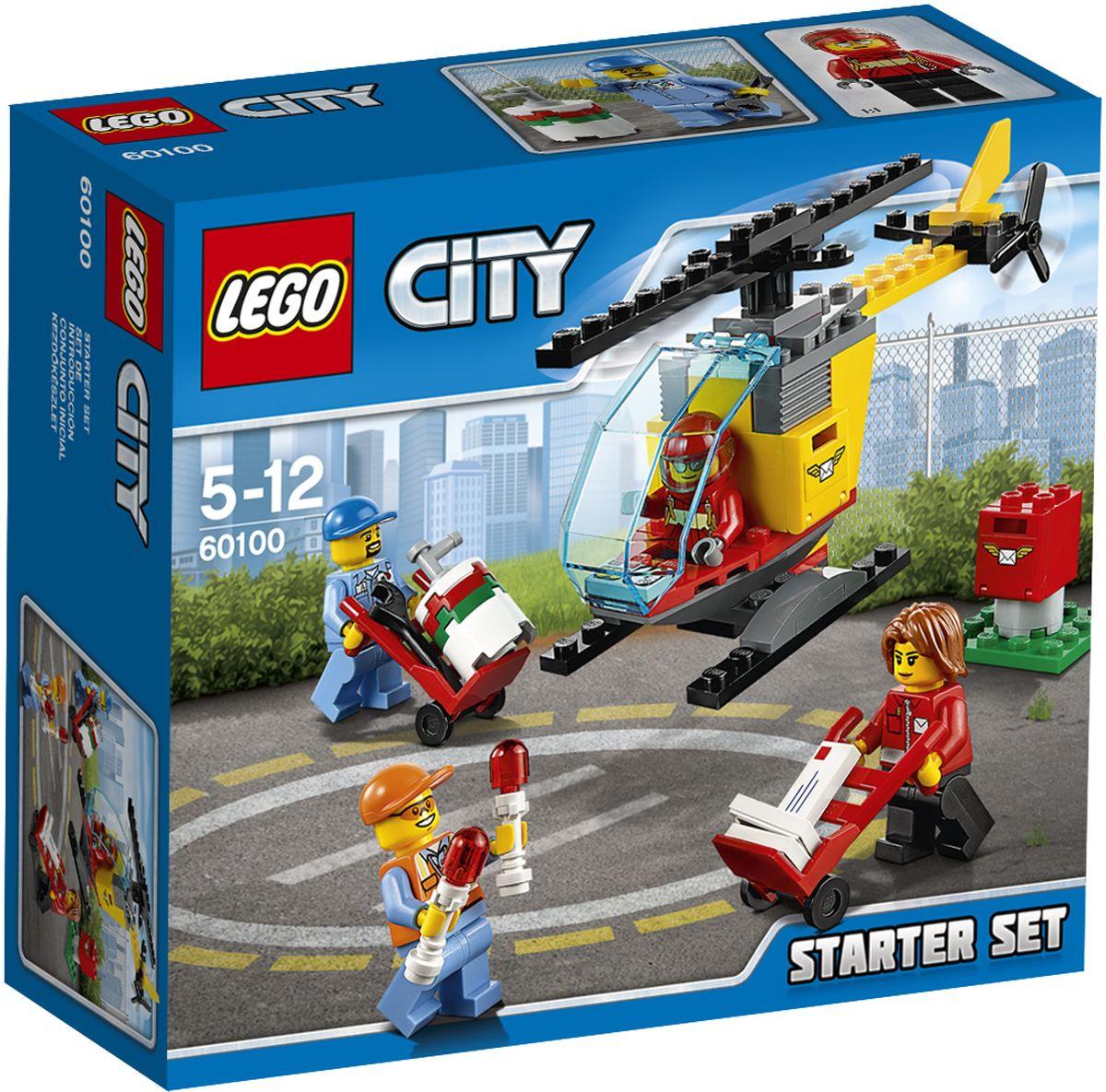 LEGO City Конструктор Аэропорт Стартовый набор 60100 lego city конструктор мобильный командный центр 60139