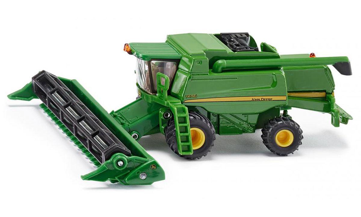 Siku Комбайн John Deere T670i tomy трактор john deere 6830 с двойными колесами и фронтальным погрузчиком с 3 лет