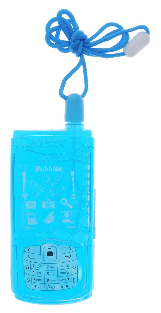 Uncle Bubble Мыльные пузыри Мобильник цвет голубой paddle bubble 278213 мыльные пузыри 60 мл с набором ракеток