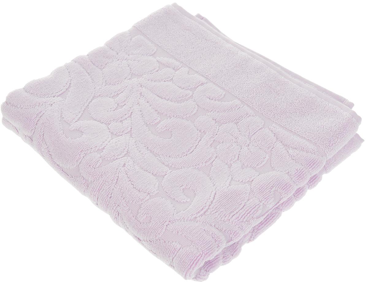 Коврик-полотенце для ванной Issimo Home Valencia, цвет: лиловый, 50 x 80 см4703Коврик-полотенце для ванной Issimo Home Valencia выполнен из высококачественного хлопка и бамбука. Такое изделие подарит вам массу положительных эмоций и приятных ощущений. Коврик отличается нежностью и мягкостью материала, утонченным дизайном и превосходным качеством. Он прекрасно впитывает влагу, быстро сохнет и не теряет своих свойств после многократных стирок.