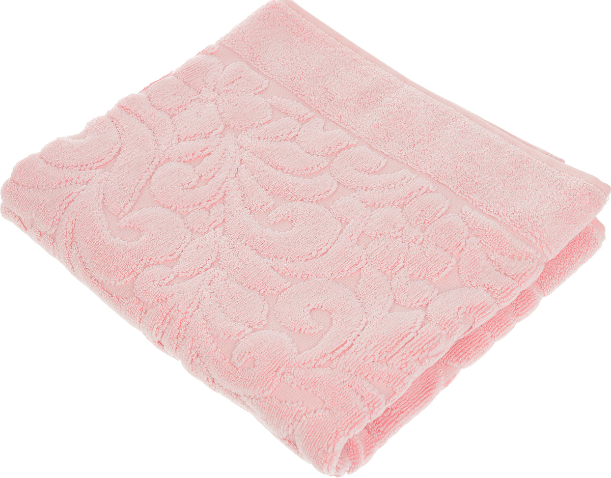 "Коврик-полотенце для ванной Issimo Home ""Valencia"", цвет: розовый, 50 x 80 см"