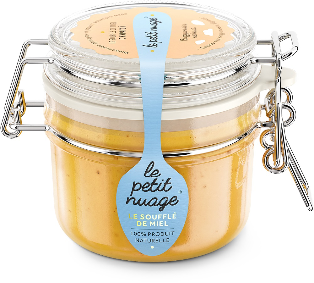 Le Petit Nuage мед-суфле с курагой, 215 г чистая крупа рис круглозерный 800 г