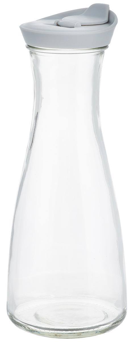 Бутылка для напитков Zeller, цвет: прозрачный, серый, 900 мл19705_прозрачный, серыйБутылка для напитков Zeller, изготовленная из прочного стекла, оснащена пластиковой крышкой с отверстием для жидкости. Это позволяет дозированно наливать содержимое. Изделие предназначено для воды, чая, фруктовых соков и других холодных напитков. Оригинальный дизайн и эргономичная форма превращают бутылку в стильный и функциональный аксессуар. Такая бутылка идеальна для ежедневного использования. Она украсит любой интерьер кухни и пригодится как дома, так и на даче. Диаметр бутылки (по верхнему краю): 6,2 см.Диаметр основания бутылки: 9,5 см.Высота бутылки (с учетом крышки): 26 см.