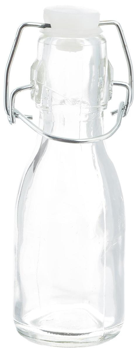 Емкость для масла и уксуса Zeller, 100 мл19710Емкость для масла или уксуса Zeller, выполненная из стекла, позволит украсить любую кухню. Она внесет разнообразие как в строгий классический стиль, так и в современный кухонный интерьер. Пластиковая крышка с силиконовой вставкой и металлической клипсой, делает бутылку герметичной.Оригинальная емкость Zeller будет отлично смотреться на вашей кухне. Диаметр по верхнему краю: 2,5 см. Высота (с учетом крышки): 14 см.