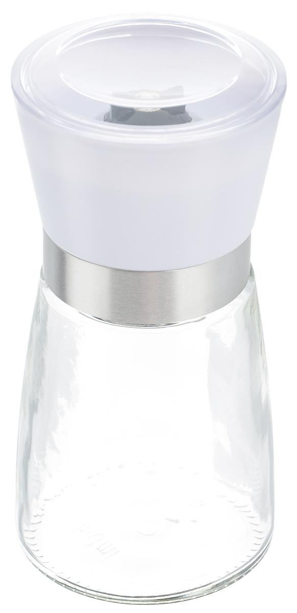 Мельница для специй Zeller, цвет: прозрачный, белый, высота 13,5 см19765_белыйМельница Zeller, изготовленная из стекла и пластика, легка в использовании. Необходимо насыпать специи внутрь емкости, достаточно только покрутить механизм, и вы с легкостью сможете поперчить или посолить по своему вкусу любое блюдо. Крышка сохраняет аромат специй. Механизм мельницы изготовлен из керамики.Оригинальная мельница станет достойным дополнением ваших кухонных аксессуаров. Высота мельницы: 13,5 см.Диаметр мельницы: 6,5 см.