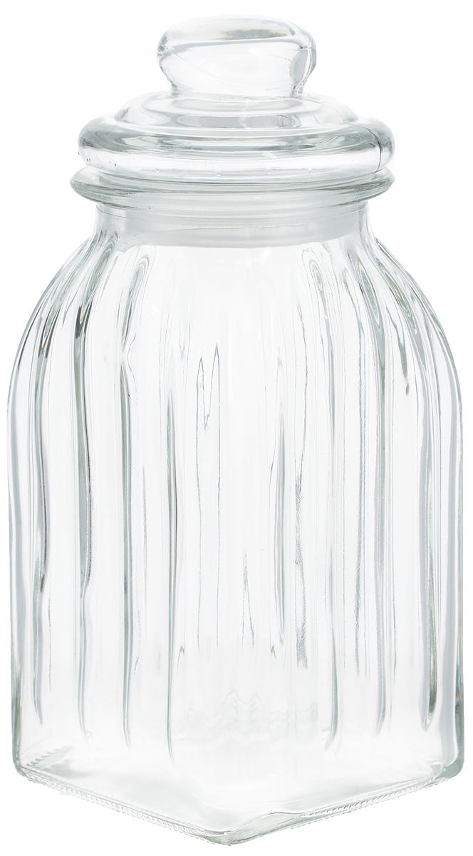 Банка для продуктов Zeller, 1 л19931Банка Zeller выполненная из рельефного стекла, станет незаменимым помощником на кухне. В ней будет удобно хранить разнообразные сыпучие продукты, такие как кофе, крупы, макароны или специи. Емкость легко закрывается стеклянной крышкой с силиконовой прокладкой.Оригинальный дизайн позволит сделать такую емкость отличным подарком на любой праздник. Диаметр банки (по верхнему краю): 9,5 см. Высота банки (без учета крышки): 19 см.