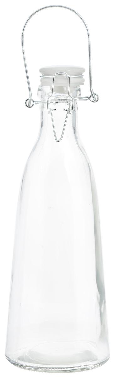 Емкость для масла и уксуса Zeller, 500 мл19715Емкость для масла или уксуса Zeller, выполненная из стекла, позволит украсить любую кухню. Она внесет разнообразие как в строгий классический стиль, так и в современный кухонный интерьер. Керамическая крышка с силиконовой вставкой и клипсой-застежкой делает бутылку герметичной.Оригинальная емкость будет отлично смотреться на вашей кухне.Диаметр по верхнему краю: 4 см. Диаметр основания: 8,5 см. Высота (с учетом крышки): 24,5 см.
