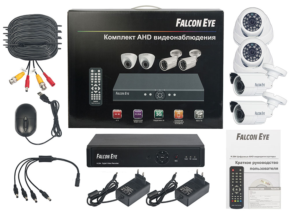 Falcon Eye FE-104AHD Kit Офис комплект видеонаблюдения - Системы видеонаблюдения