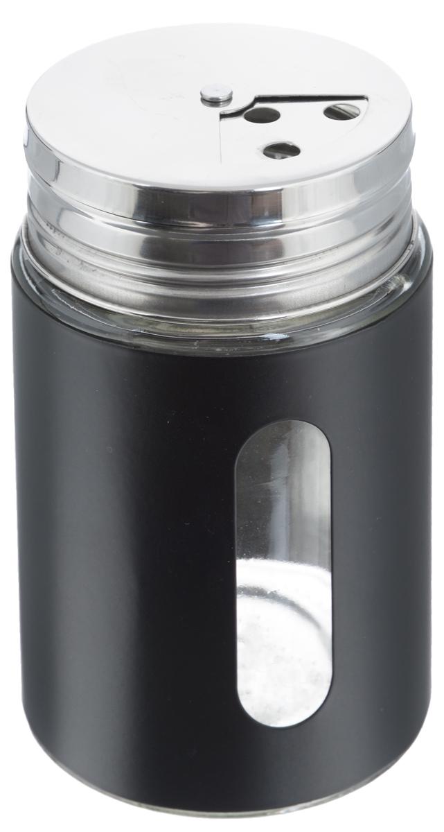 Емкость для специй Zeller, цвет: прозрачный, черный, 400 мл19799Емкость Zeller выполнена из антикоррозийной стали и стеклаи предназначена для разнообразных специй. Изделиеоснащеноудобной плотно закрывающийся крышкой с отверстиямиразнойвеличины для высыпания. Поворотный механизм позволяетвыбрать отверстия по диаметру. Емкость имеет прозрачноеокошко, поэтому вы всегда можете видеть, что и в какомколичестве содержится в банке. Благодаря антистатическойповерхности содержимое контейнера не прилипает кстеклянному окошку. Такая функциональная и вместительная емкость станетнезаменимым аксессуаром на любой кухне.Диаметр по верхнему краю: 6,5 см. Высота (без учета крышки): 11 см.