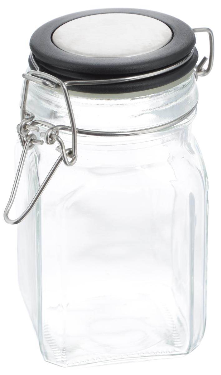 Банка для хранения Zeller, цвет: прозрачный, черный, 280 мл19955Банка Zeller выполнена из прозрачного стекла и оснащена пластиковой крышкой. Металлическая клипса герметично закрывает крышку, что позволяет продуктам дольше оставаться свежими и ароматными. Изделие прекрасно подходит для хранения разнообразных специй.Такая баночка станет достойным дополнением к вашему кухонному инвентарю. Диаметр по верхнему краю: 6 см.Высота банки (с учетом крышки): 12 см.