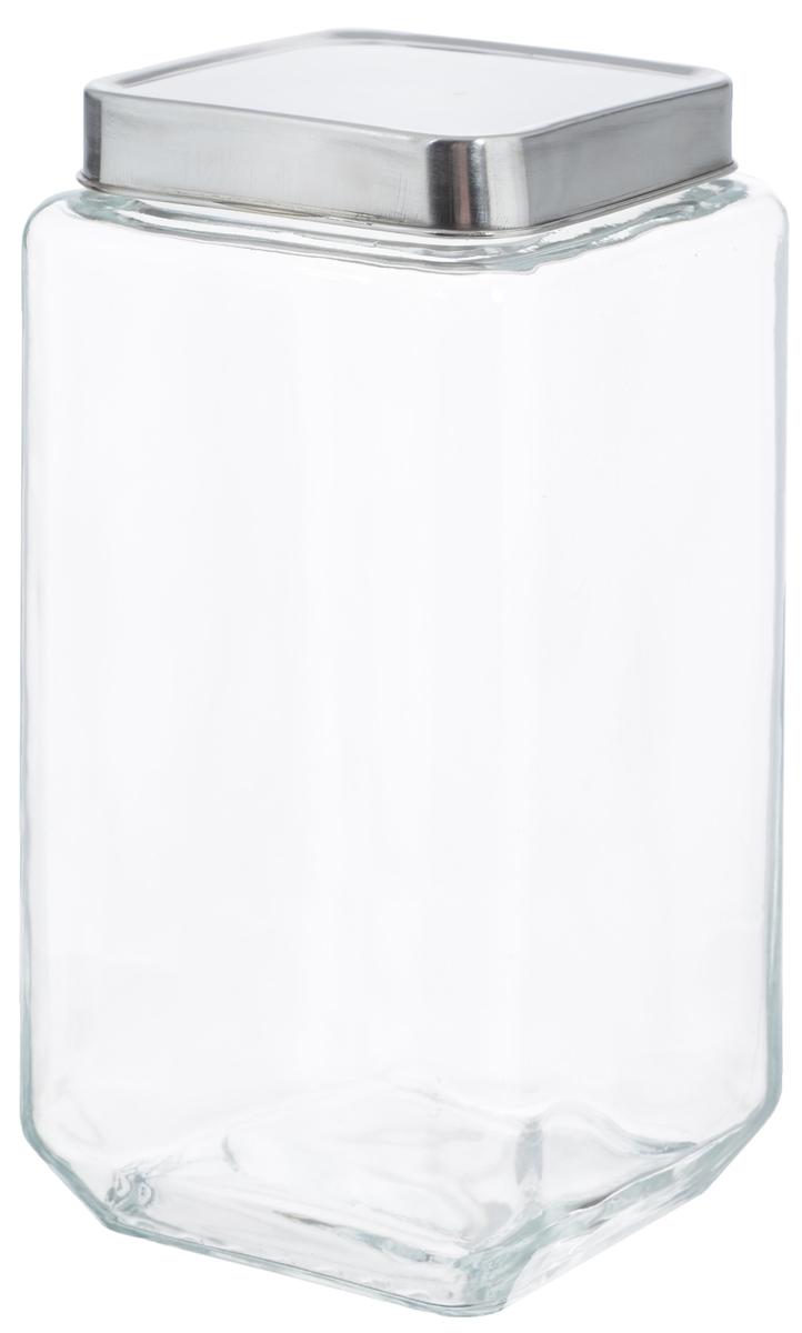 Банка для хранения Zeller, 2 л19909Банка Zeller, изготовленная из прочного стекла, снабжена металлической крышкой, которая плотно и герметично закрывается, дольше сохраняя аромат и свежесть содержимого. Изделие подходит для хранения сыпучих продуктов: круп, чая, специй, орехов, сахара и многого другого. Функциональная и вместительная, такая банка станет незаменимым аксессуаром на любой кухне. Размер банки: 10,5 х 10,5 х 22,5 см.