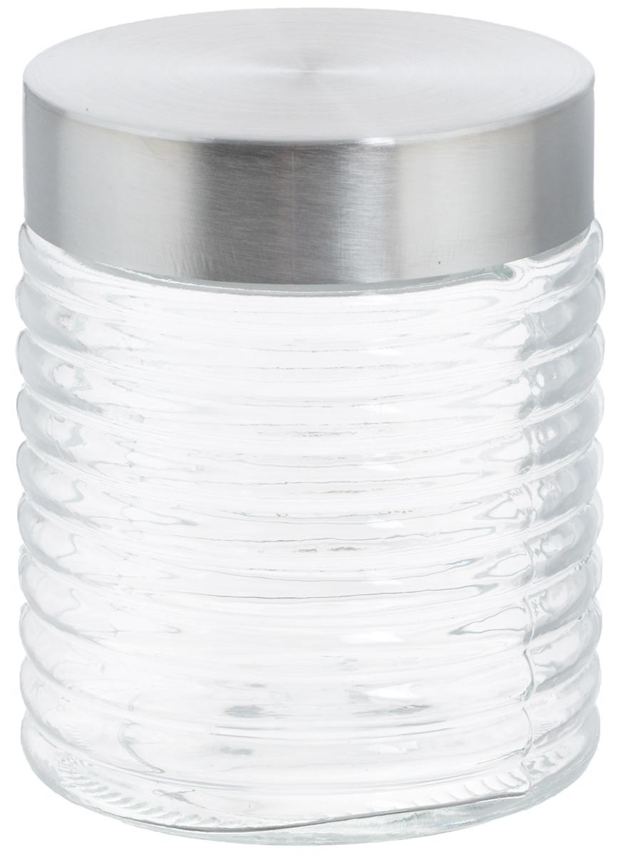 Банка для хранения Zeller, 650 мл19770Банка Zeller, изготовленная из прочного стекла, снабжена металлической крышкой, которая плотно закрывается, дольше сохраняя аромат и свежесть содержимого. Банка подходит для хранения сыпучих продуктов: круп, специй, орехов, сахара, соли и многого другого. Функциональная и вместительная, такая банка станет незаменимым аксессуаром на любой кухне. Диаметр банки (по верхнему краю): 9 см.Высота банки (с учетом крышки): 12,5 см.