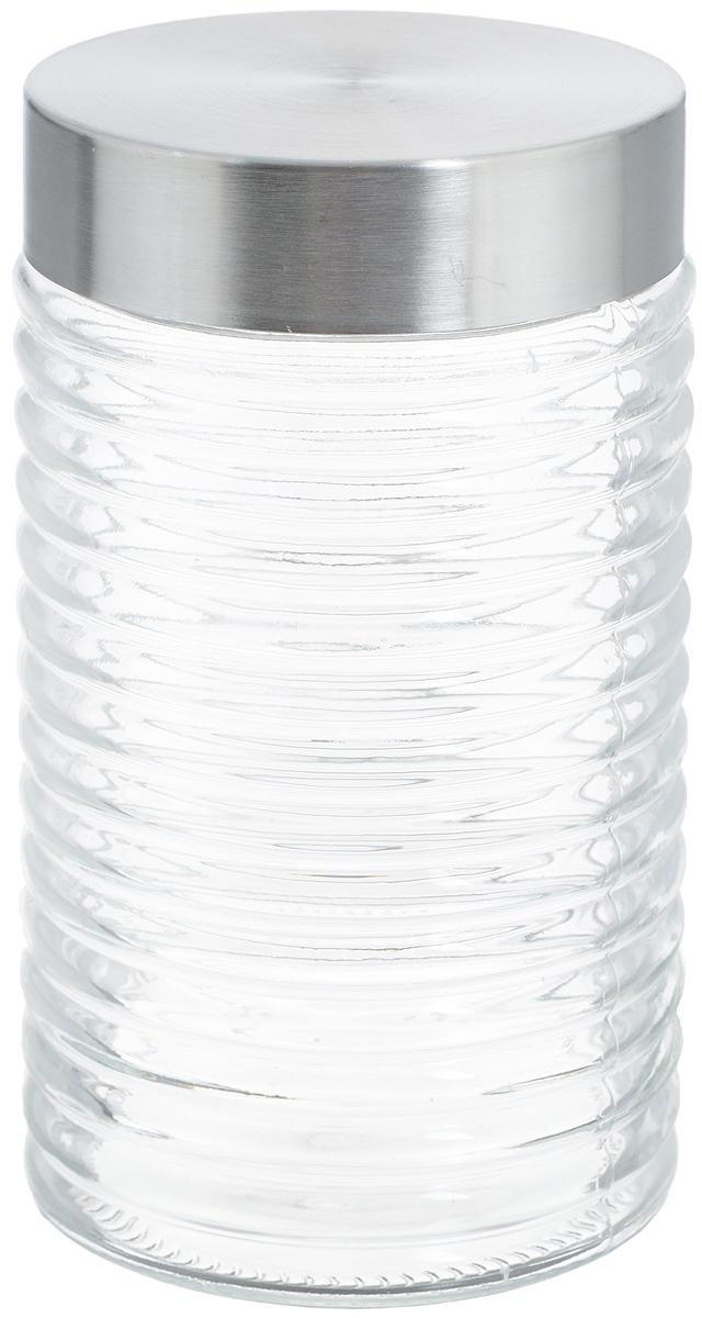 Банка для хранения Zeller, 1 л19771Банка Zeller, изготовленная из прочного стекла, снабженаметаллической крышкой, которая плотно закрывается, дольшесохраняя аромат и свежесть содержимого. Банка подходит дляхранения сыпучих продуктов: круп, специй, орехов, сахара,соли и многого другого. Функциональная и вместительная,такая банка станет незаменимым аксессуаром на любой кухне. Диаметр банки (по верхнему краю): 9 см. Высота банки (без учета крышки): 18 см.