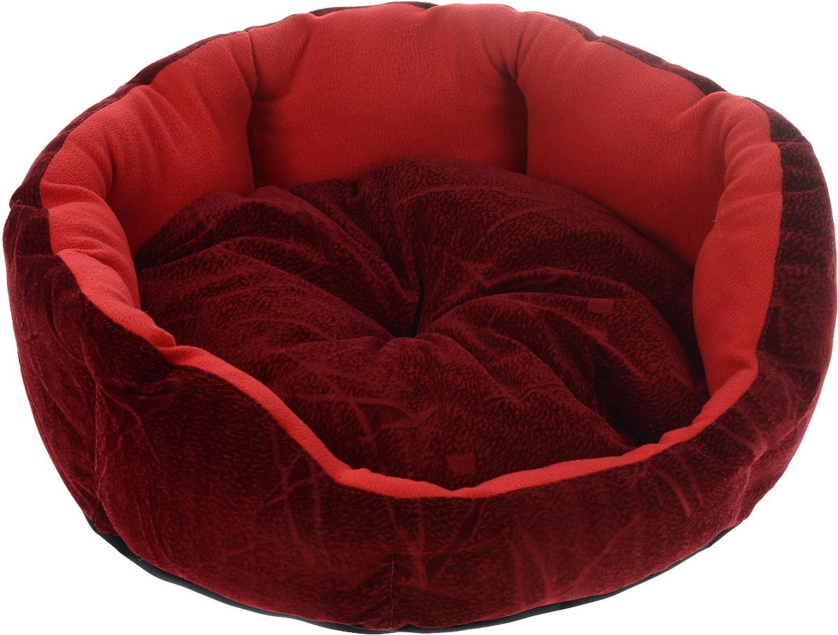 Лежак для животных ЗооМарк Цветочек, цвет: красный, диаметр 46 смЛЦ-1Мягкий лежак для собак ЗооМарк Цветочек обязательно понравится вашему питомцу. Он выполнен из высококачественных материалов, а наполнитель из мягкого синтепуха. Такой материал не теряет своей формы долгое время. Высокие борта обеспечат вашему любимцу уют. Лежак оснащен съемной подстилкой. Лежак ЗооМарк Цветочек станет излюбленным местом вашего питомца, подарит ему спокойный и комфортный сон, а также убережет вашу мебель от многочисленной шерсти. Диаметр: 46 см.Высота: 16 см.