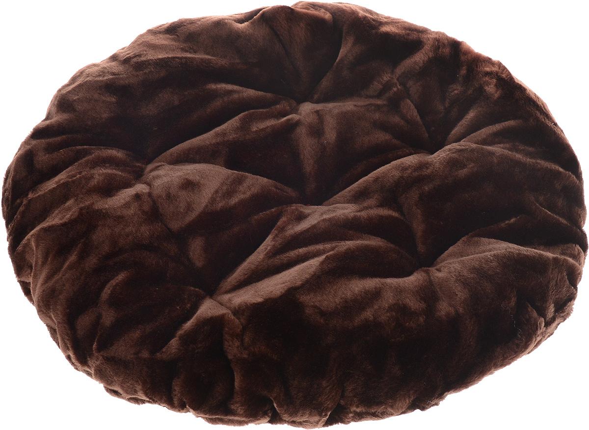 """Лежак для животных ЗооМарк """"Лаваш"""", цвет: темно-коричневый, диаметр 60 см"""