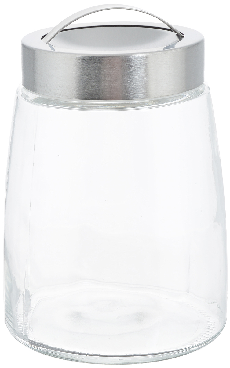 Банка для хранения Zeller, 1,2 л19761Банка Zeller, изготовленная из прочного стекла, снабжена металлической крышкой, которая плотно закрывается, дольше сохраняя аромат и свежесть содержимого. На крышке имеется эргономичная ручка для удобной переноски. Изделие подходит для хранения сыпучих продуктов: круп, чая, специй, орехов, сахара, соли и многого другого. Функциональная и вместительная, такая банка станет незаменимым аксессуаром на любой кухне. Диаметр банки (по верхнему краю): 9 см.Высота банки (без учета крышки): 16 см.